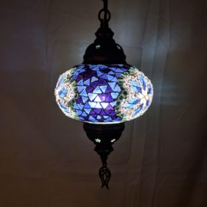 6 1/4 Inch Hanging Mosaic Lamps at The Covered Market in Takoma Park, Maryland
